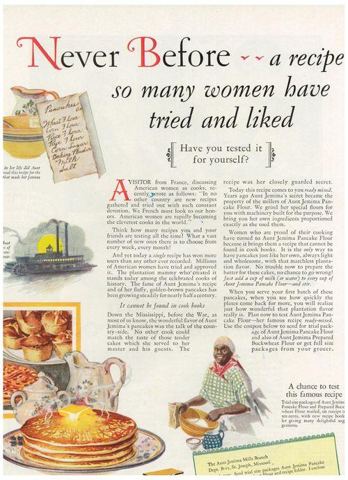 Woman's Home Companion March 1933 Aunt Jemima ad