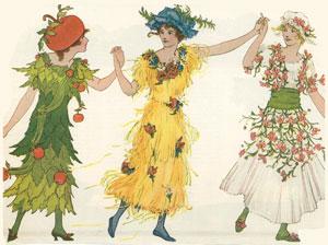 Children-in-costumes-Apple-Field-Spring-circa-1915sm
