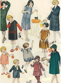 Children-circa-1910-with-Halloween-favorssm